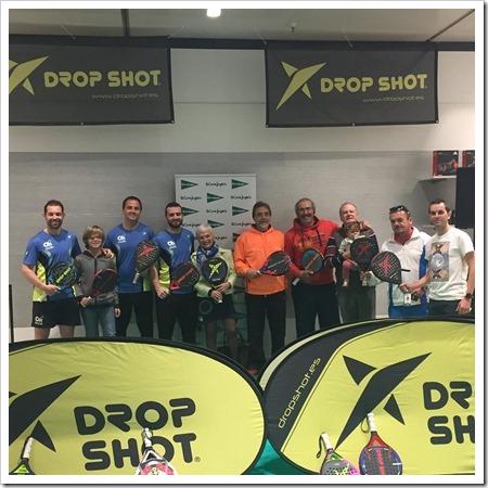 Drop Shot comienza con sus Clinics y test de material en El Corte Inglés de Castellón.