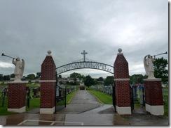 Cemetery behind church