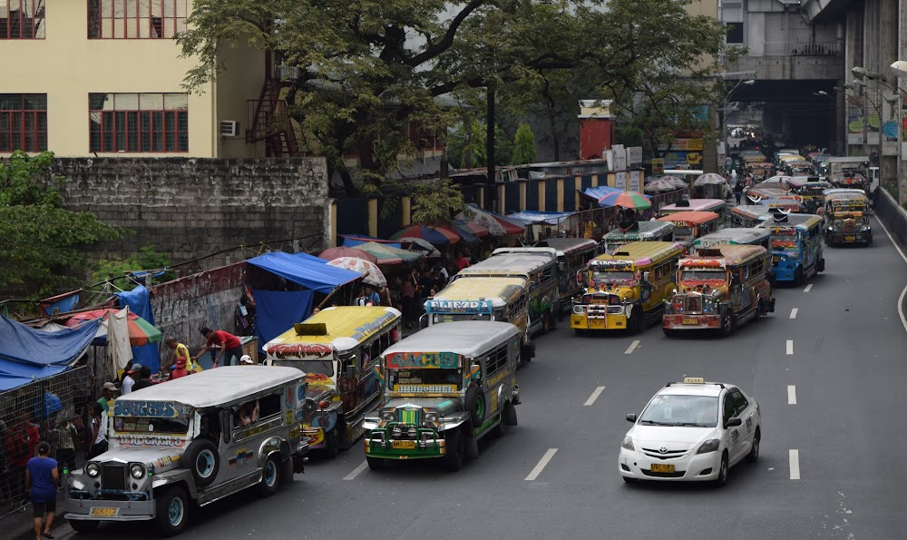 ... a lot of Jeepneys.  And one car.
