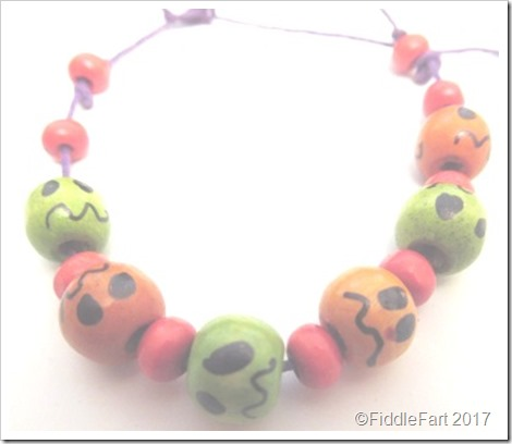 Halloween spooky faces bracelet...