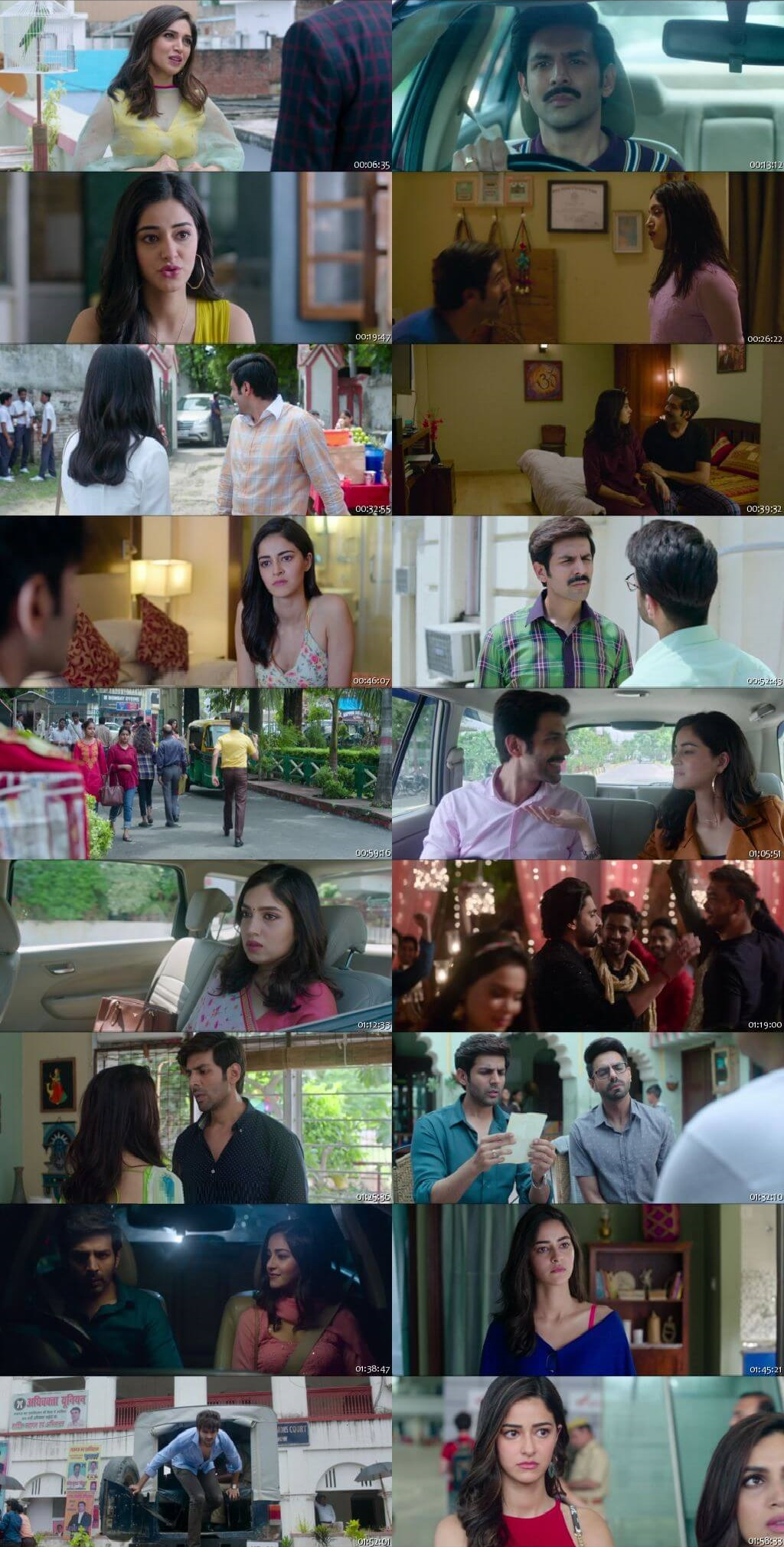 Screen Shot Of Pati Patni Aur Woh 2019 Full Movie Free Download HD 720P Watch Online
