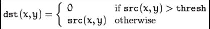 Ajuste a cero invertido (THRESH_TOZERO_INV)
