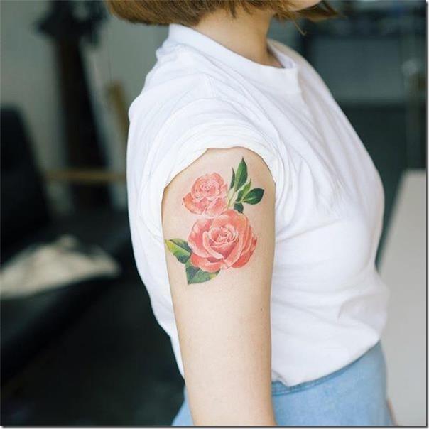 hermosas-rosas-delicadas-sin-contorno-en-el-brazo