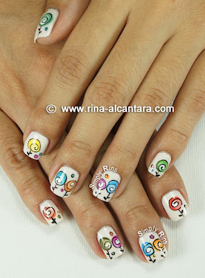 Happy Mother's Day Nail Art by Simply Rins