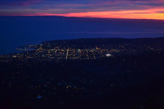 Santa Barbara in the dusk light