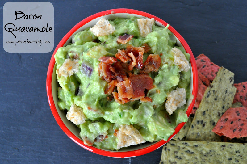 Homemade Bacon Guacamole Dip