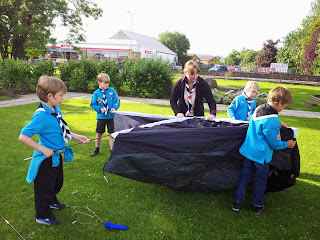 Beavers Tent Pitching