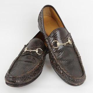 Gucci Python Loafers