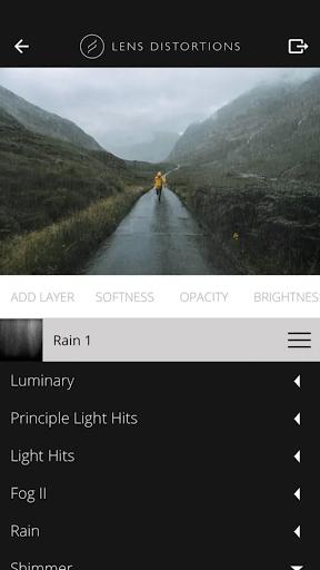 Realistic Rain effect in Lens Distortion app