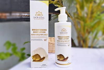 body lotion yang terbuat dari lendir siput