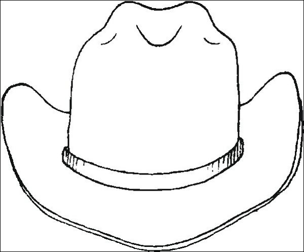 Cowboy hat, free coloring pages
