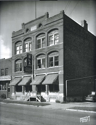 Madison Candy Co. building, 1945. The business first began at the Machinery Row building, 611 Williamson, with Thomas F. Prendergast, president. The red brick building at 744 Williamson was built in 1903, designed by John Nader, architect. It was home to the Richard E. Ela Industrial Supply Company until the 1990s. The adjacent building had a farm implement and tractor dealer.
