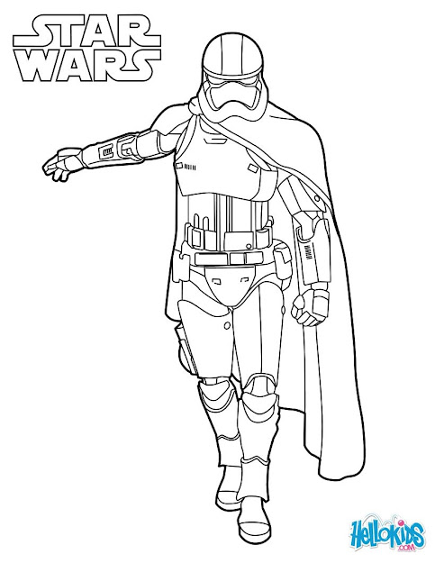 Capitain Phasma  Star Wars Coloring Page