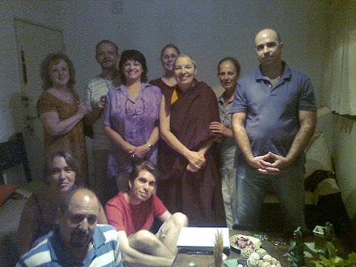 Students from Yogi Saraha Study Group during a teaching at in Córdoba, Argentina, January 2012.