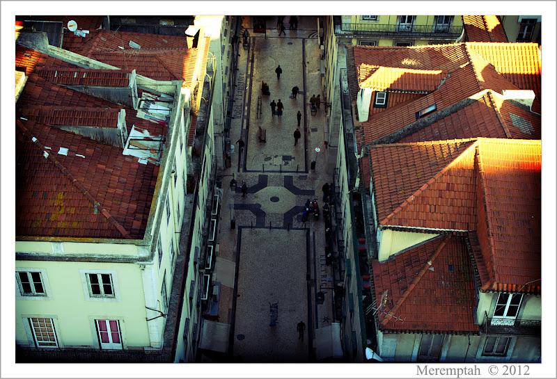 Telhados Toits Baixa Lisbonne