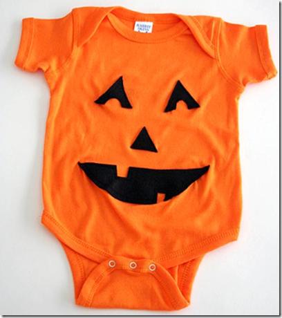 disfraz de calabaza bebé