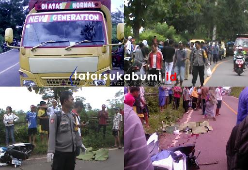Tragis, Pelajar SMP di Sukabumi Tewas Tabrak Truk