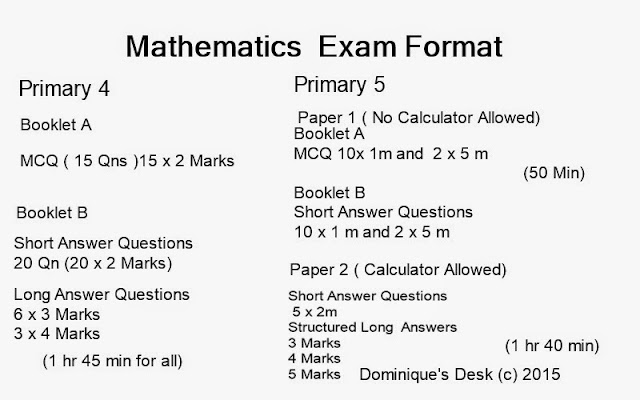 The mathematics exam format