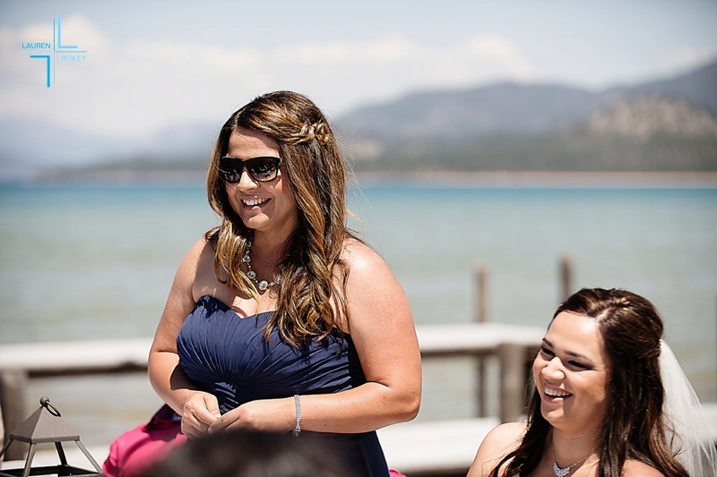 Tahoe Pier Wedding
