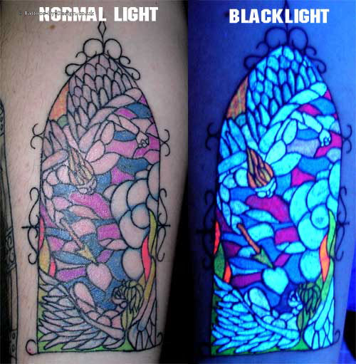 Meganakas horrorshow uv blacklight ink tinta for Uv ink tattoos