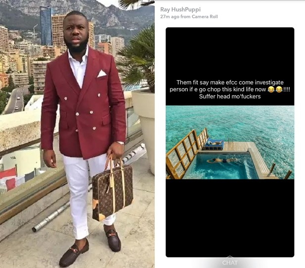 """Suffer Head Mo'fuckers"" — Hushpuppi Throws Shade At Kcee"