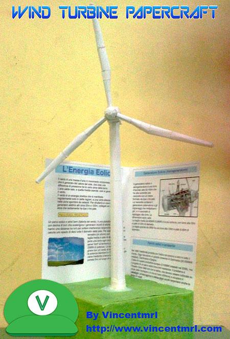 Wind Turbine Paper Model
