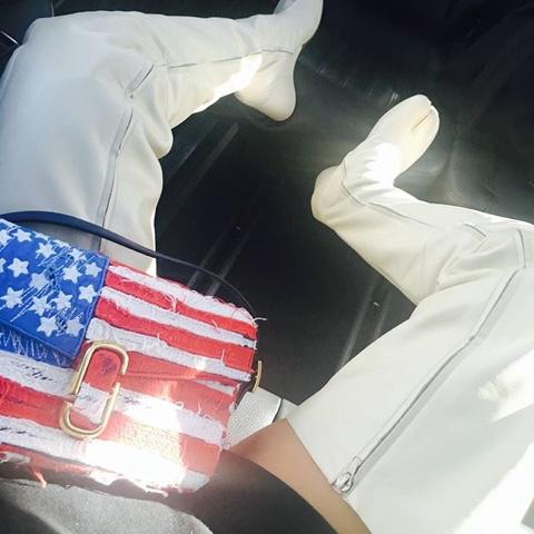 Rihanna in Marc Jacobs American Flag Bag
