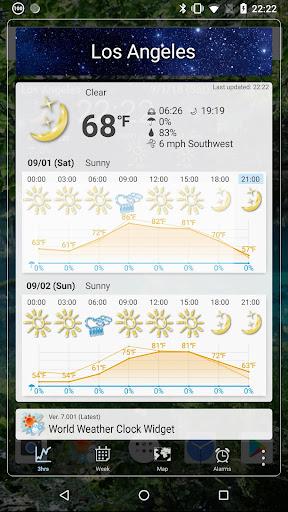 World Forecast Clock Widget screenshot 4