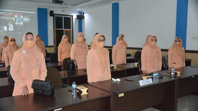 Pengurus Dharma Wanita Persatuan Sumatera Barat Dikukuhkan Secara Online.