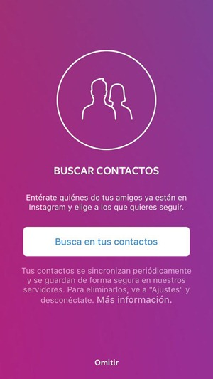 Buscar contactos para Instagram
