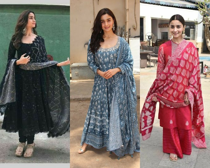 MOST FLATTERING AND FUSION OUTFIT LOOKS OF ALIA BHATT  TO GET INSPIRE||
