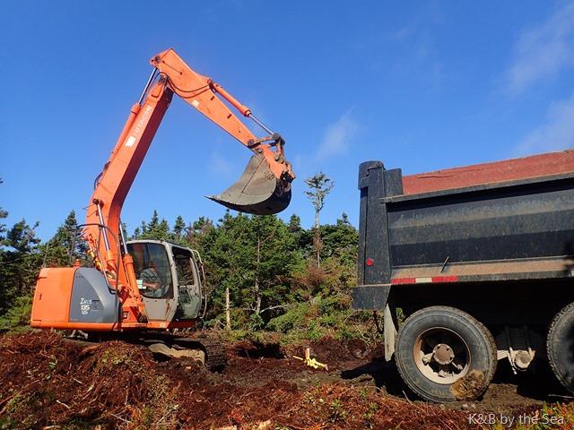 excavator truck