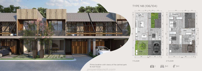 Rumah Asera Nishi Harapan Indah Bekasi Tipe N8