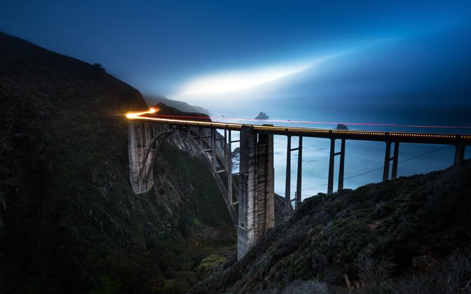 Bixby Bridge - Hazy Dusk by Lowe Rehnberg1