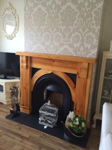 How To Paint A Wood Fireplace Surround, How To Sand A Wooden Fire Surround