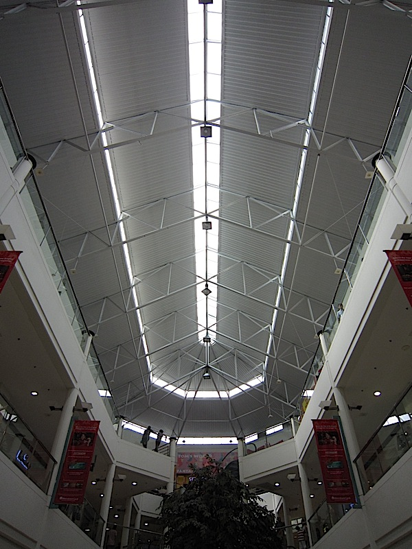 roof of Robinsons Galleria's atrium