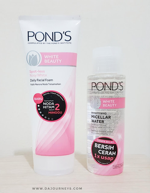 [Review] Ponds White Beauty Spot Less Rosy White Facial Foam and Brightening Micellar Water