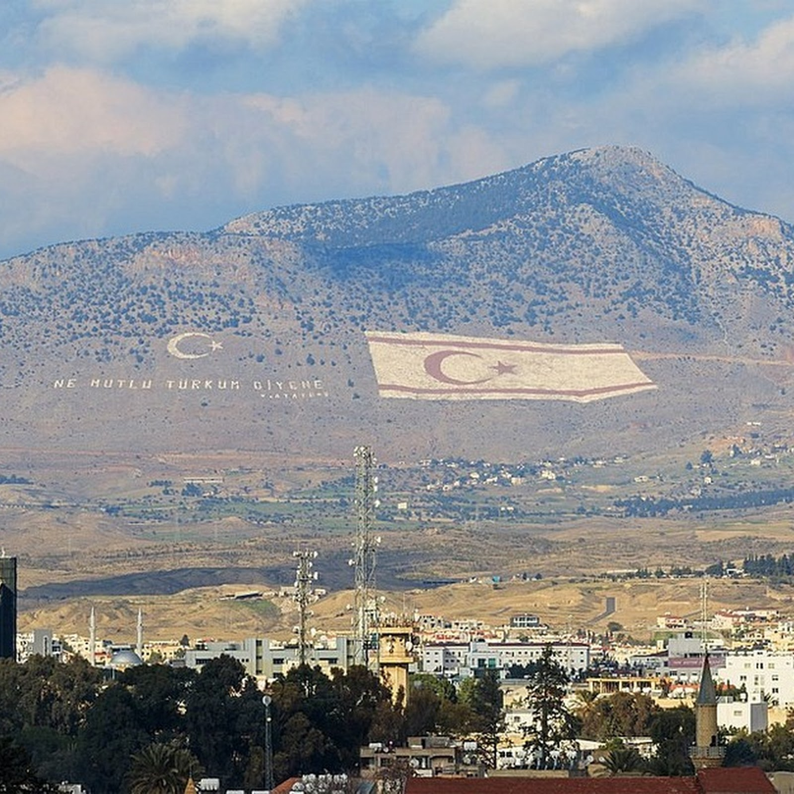 Northern Cyprus's Giant Mountain Flag