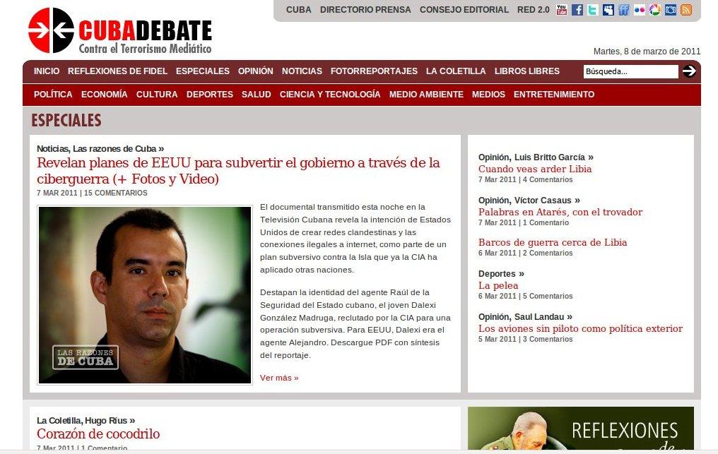 Censura castrista del #PSOE en #Navia #Asturias #España increible, pero cierto Cubadebate1