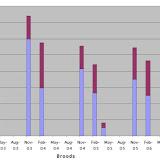 Figure 10 : O. niobe brood populations at BBBR