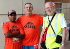 Miguel, Dave and Bob Roncker before the 10K.
