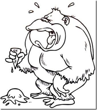 Dibujos gorilas para colorear