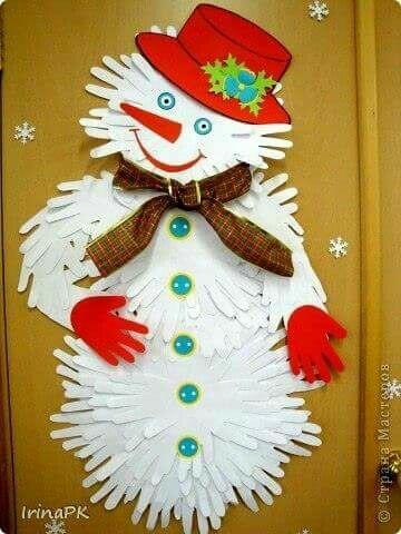 M s y m s manualidades hermosas decoraciones navide as usando manos de papel - Decoraciones navidenas manualidades ...
