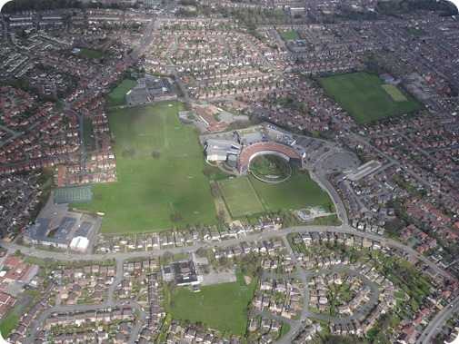 Crewe - South Cheshire College and surrounding schools and  houses