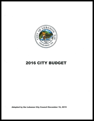 2016 Approved City of Lebanon Budget