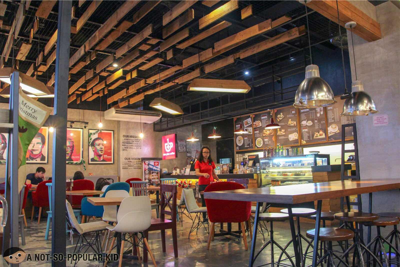 Interior of One Plus Coffee in Circuit Mall