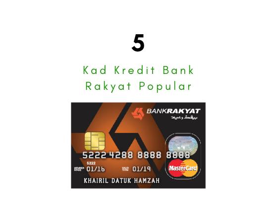 5 Kad Kredit Bank Rakyat Popular
