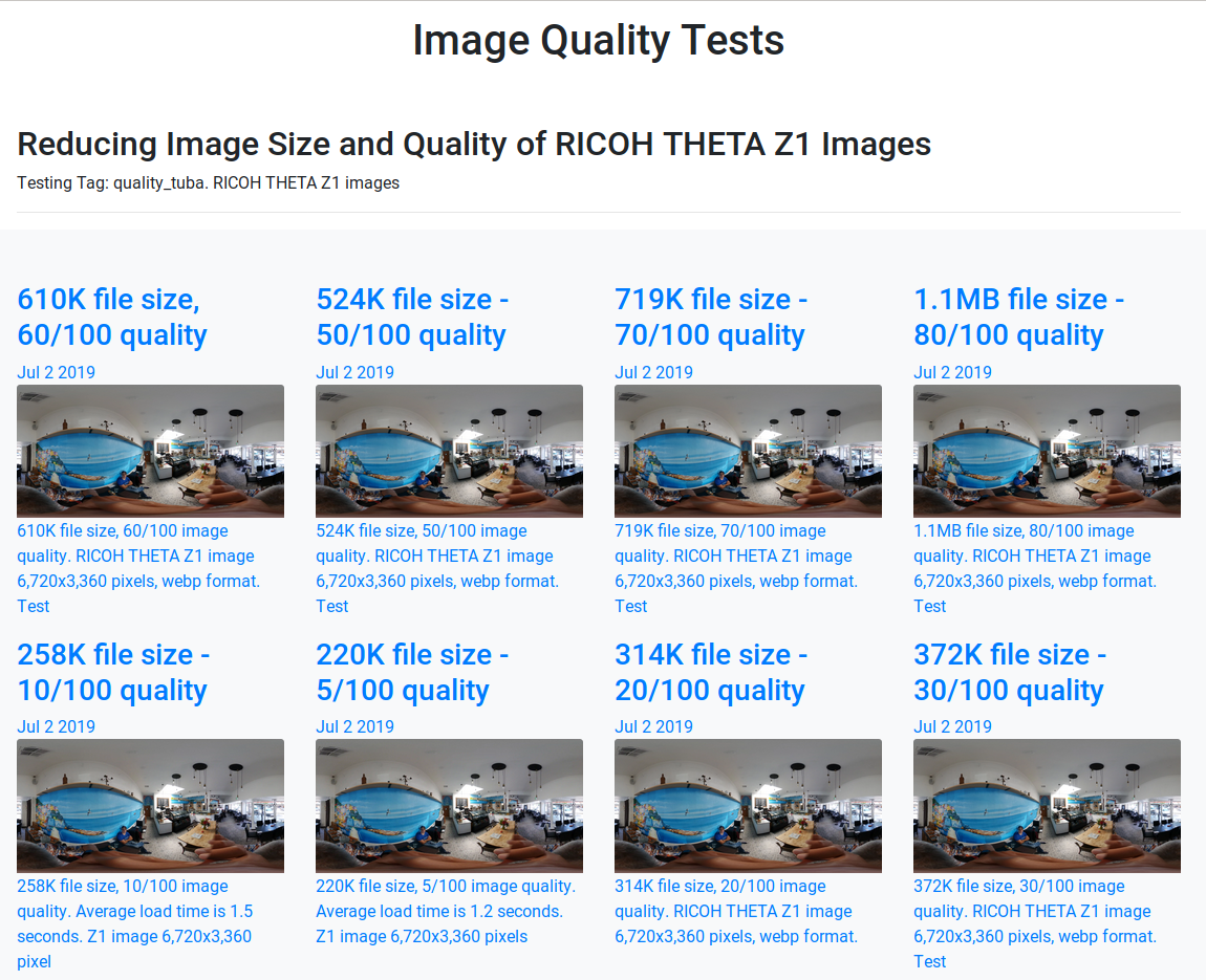 Image quality tests