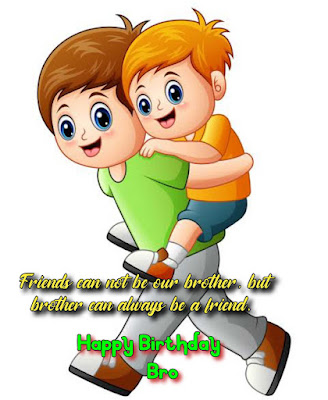 Birthday wishes, Brother carrying sibling on back.