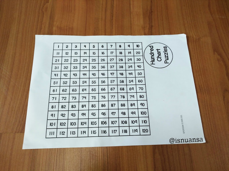 hundred chart puzzle